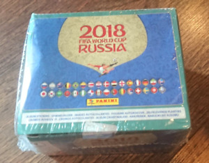 PANINI STICKER 2018 WORLD CUP SEALED BOX  (104 Packs) Brazilian Edition