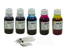 Bulk refill ink for HP inkjet printer 4 colors 5x100ML (2bk)