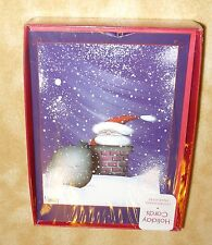 New 16 holiday cards glitter grumpy santa envelopes included