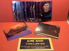 1994 Collect-A-Card - STARGATE MOVIE - 9x Chromium Cards + Other Inserts
