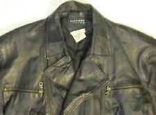 Black Leather Jacket Coat Womens 4