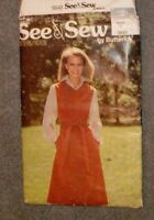 See & Sew Pattern 5843 Misses' JUMPER semi-fitted knee length Size 18 - New