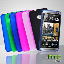 6 Colors Matt Gel Case For HTC ONE M7 810e + Free SP TPU Rubber Skin Soft Cover