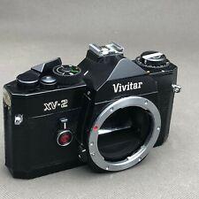 Vivitar XV-2 35mm SLR Film Camera only body NEW BATTERY TESTED