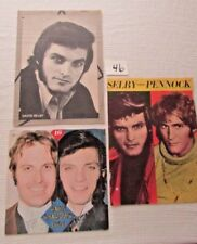 Collectible Dark Shadows Quentin Selby Pennock Lot of 3 Magazine Pinups #46