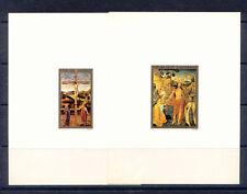GABON DELUXE PROOFS RELIGIOUS ART JESUS BY BELLINI & BURGUNDIAN SCHOOL C. 1500