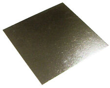 """50 x 6 """"pollice quadrato argento cake BOARD 3mm doppio spessore"""