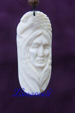 Bone-Kette Indianerf-Adler  7 x 3 cm