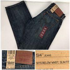 Levis 514 Mens 33 X 30 Jeans Slim Straight Leg NWT $54