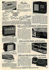 1951 ADVERT Setchell Carlson Radio Headboard Personalized Removable Speaker