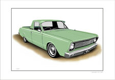 VALIANT  VC  REGAL  UTE   LIMITED EDITION CAR DRAWING  PRINT ( 5 CAR COLOURS)