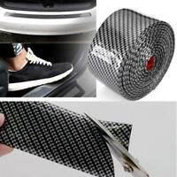 2.5m DIY Car Door Sticker 4D Carbon Fiber Rubber Sill Protector Edge Guard RT *