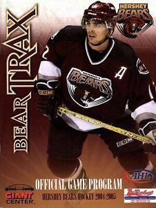2004-2005 Vintage Hershey Bears Program