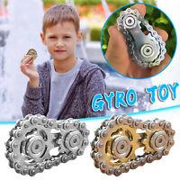 1/2Pcs Fingertip gyro sprocket Sprocket Flywheel Fingertip Toy (Gold+Silver)