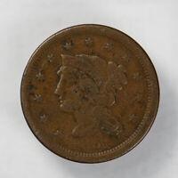 1851 BRAIDED HAIR 1C LARGE CENT ** NICE DETAIL Lot#J054