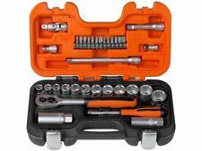 """Bahco Steckschlüsselsatz S330 1/4"""" und 3/8"""" 34-teilig Stahllegierung matt Koffer"""