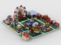 Lego Modular Amusement Park Building Instructions (Build from 13 models)