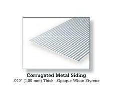 "Evergreen Styrene 4530 1 x 0.125"" (3.2mm) Spacing 6"" x12""x .040"" 'Metal Siding'"