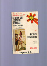 storia dei costumi sessuali-r.lewinson - I° volume -
