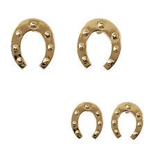 BOUCLES d'oreilles FER à CHEVAL PORTE BONHEUR en Plaqué OR 18 carats