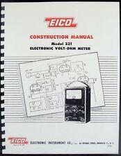 EICO 221 Electronic Volt-Ohm Meter Construction Manual