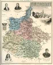 Carte, Departement des ARDENNES, vers 1885
