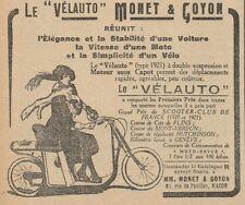 Y7660 Le Vélauto MONET & GOYON - Pubblicità d'epoca - 1921 Old advertising