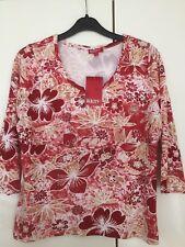 Reality Damen Shirt Bluse Oberteil Top Sommer 3/4 Arm Gr.L Stretch Neuwertig