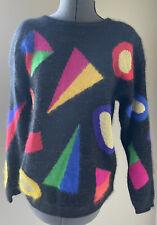 Vintage 80's Rafaella Angora Lambswool sweater shoulder pads size Medium