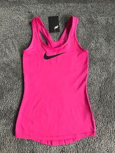 BNWT Pink Nike Pro Dri Fit Ladies Racer back Vest Top Size XS