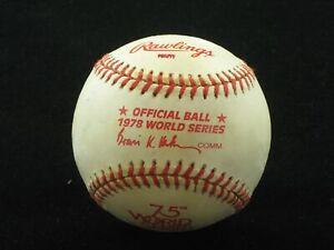 1978 Official World Series Baseball NEW UNUSED New York Yankees LA Dodgers Haiti