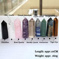 10CM Natural Quartz Crystal Point Healing Obelisk Hexagonal Wand Reiki