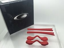 AUTHENTIC OAKLEY RADAR EAR SOCKS & NOSE PADS KIT RED NEW! 06-209  Tips Pieces