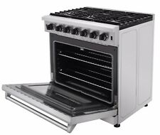 Thor Kitchen Stainless Steel Kitchen 36inch Gas Range Stove Oven Lrg3601U