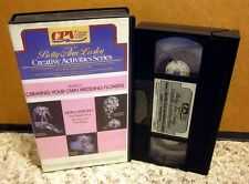 BETTY ANN LASLEY home crafts Creating Wedding Flowers VHS step-by-step DIY