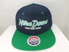 cb071b854cd Notre Dame Fighting Irish NCAA Retro Vintage Snapback CAP Hat NEW By Zephyr