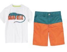 Gymboree Bright and Beachy 4 5 6 7 Lizard Shirt & Orange Shorts Set Iguana Relax