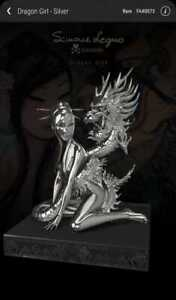 VEVE collectible NFT Dragon Girl-Silver  Rare 3D FA #73 of 1888 very low serial