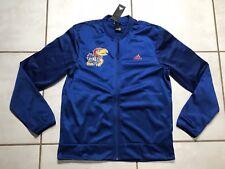 NWT ADIDAS Kansas Jayhawks NCAA Basketball Warmup Jacket Men's Medium MSRP $90