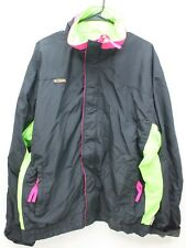COLUMBIA XL Mens Vintage Bugaboo Ski Jacket Black NEON Pink 56 Mens Tall L XL
