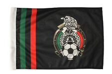 "MEXICO FEDERACION..Logo 12"" X 18"" Inch CAR STICK FLAG BANNER Without POLE..New"