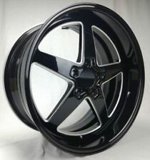 19 INCH TNP GLOSS BLACK STREET & DRAG WHEELS & NEW TYRES HOLDEN SPECIAL WELD