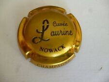 capsule de champagne, NOWACK, cuvée Laurine, or foncé, L espacé, N°48