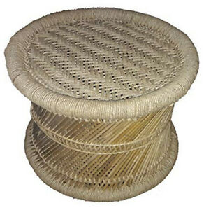 KSM Ecofriendly Handicraft Bamboo Stick Stool with Jute Rope Home/Garden/Lawn
