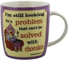 Novelty Mug Gift For Her Featuring Aunty Acid Humour Solved with Chocolate