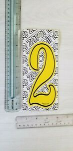 "old school ZeroNine BMX Yellow & Black number plate number # 2 GT Redline NOS 6"""