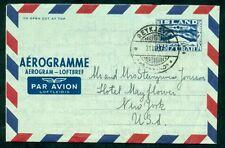 ICELAND Aerogram #4, 175aur, 1956, used to U.S., VF, Facit $75.00
