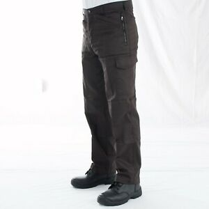 Mens Smart Work Trousers Durable Trade Pro 28 to 44 Black, Paramedic Green VT13