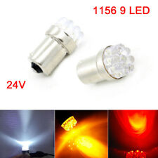 CAR 1156 BA15S R5W 9 LED SIDE LIGHT TURN SIGNAL BULBS TAIL RESERVE LAMP 24V