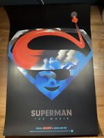 Superman FOIL Variant Art Print Poster By Lyndon Willoughby XX/50 Mondo BNG